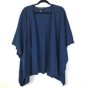 St. John Navy Blue Heavy Knit Cardigan